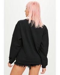 Missguided - Black Tassel Trim Sweatshirt - Lyst