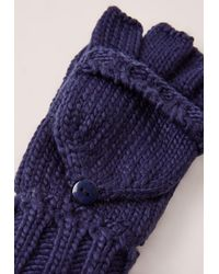 Missguided | Blue Navy Knitted Mittens | Lyst