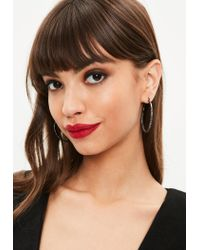 Missguided - Multicolor Gunmetal Hoop Earrings - Lyst