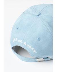 Missguided - Blue Fresh Faux Suede Cap - Lyst