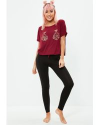 Missguided - Red Christmas Bauble Leggings Pajamas Set - Lyst