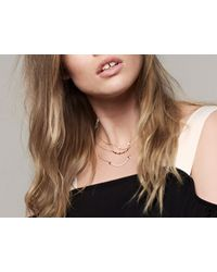 Missoma - Metallic Large Gold And Pave Archer Necklace - Lyst
