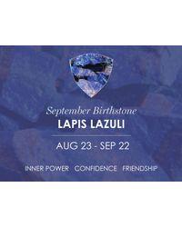 Missoma - Blue Silver September Lapis Charm - Lyst