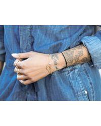 Missoma - Metallic Silver Talisman Bracelet - Lyst