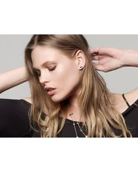 Missoma - Metallic Pave Center Double Arrow Stud Earrings - Lyst
