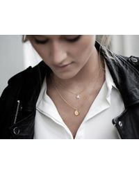 Missoma - Metallic Gold 'b' Initial Necklace - Lyst