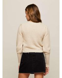 Miss Selfridge - Natural Camel Deep Cuff Jumper - Lyst
