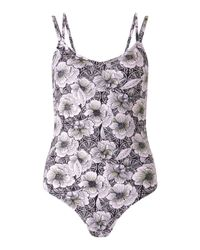 Miss Selfridge - Multicolor Tropical Print Strappy Body - Lyst