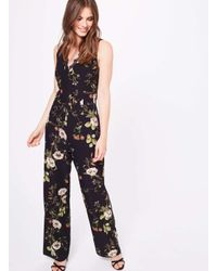 512f2fa10ef Miss Selfridge. Women s Premium Lace Trim Printed Jumpsuit