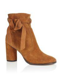Miss Selfridge   Brown Alixe Tan Suede Wrap Boots   Lyst