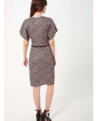 Miss Selfridge - Multicolor Printed Wrap Belted Dress - Lyst