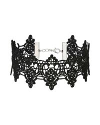 Miss Selfridge   Black Crochet Choker   Lyst