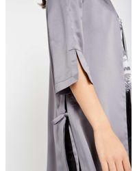 Miss Selfridge - Pink Pewter Satin Side Tie Kimono Jacket - Lyst