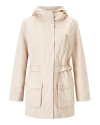 Miss Selfridge - Natural Blush Lightweight Parka - Lyst