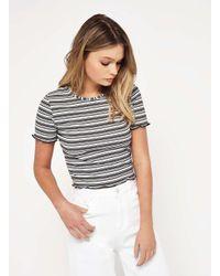 7ce5007b97adc Miss Selfridge. Women s Petite Stripe Lettuce T-shirt