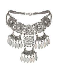 Miss Selfridge | Metallic Silver Cut Out Choker | Lyst