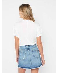 Miss Selfridge - White Choker Neck T-shirt - Lyst