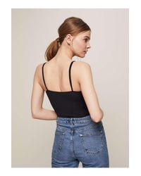 Miss Selfridge - Petite Black Lace Bodysuit - Lyst