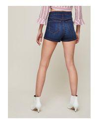 Miss Selfridge - Blue Indigo Steffi Shorts - Lyst