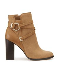 Miss Selfridge - Brown Dallas Tan Circle Wrap Boots - Lyst