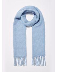 Miss Selfridge - Blue Oversized Brushed Scarf - Lyst