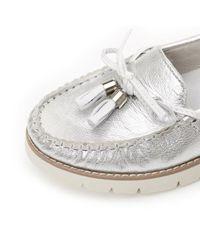 Moda In Pelle - Metallic Aledi Low Caual Shoes - Lyst