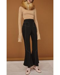 Ellery - Black Align Cropped Flared Pant - Lyst