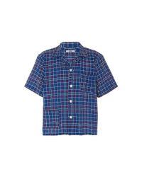 Bode Blue Alden Louie Shirt for men
