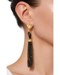 Of Rare Origin - Black Obsidian And Ebony Bloom Earrings - Lyst