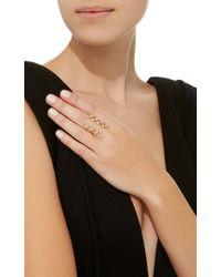 Established - Metallic Long Checker 18k Gold Ring - Lyst