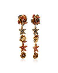 Erickson Beamon - Metallic Vermeil Bouquet 24k Gold-plated Crystal Earrings - Lyst