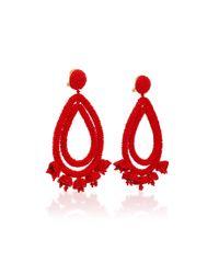 Sachin & Babi - Red Grape Halo Earrings - Lyst