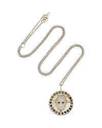 Misahara - Snake Charm 18k White Gold, Black And White Diamond Necklace - Lyst