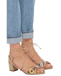 Tabitha Simmons - Natural Lori Meadow Embroidered Sandals - Lyst