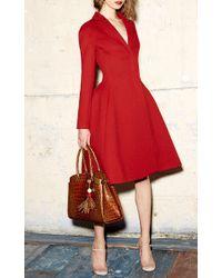 Paule Ka - Red Dress Coat With Pockets - Lyst