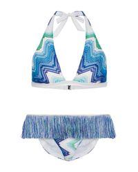Missoni | Blue Zig Zag Sfumato Bikini Set | Lyst