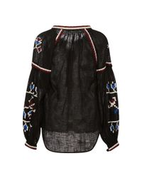 MARCH11 - Black Flora Long Sleeve Blouse - Lyst