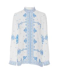 Vilshenko - Blue Angie Long Sleeve Blouse - Lyst