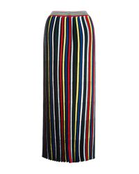 Rosetta Getty - Multicolor Pleated Stripe Knit Skirt - Lyst