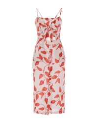 Johanna Ortiz - Multicolor Desirade Bow Front Sheath Dress - Lyst