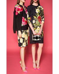 Naeem Khan - Yellow Floral Printed Skirt - Lyst