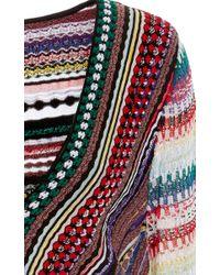 Missoni - Multicolor Deep V-neck Pullover - Lyst
