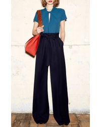 Paule Ka - Blue Wide Legged Trousers - Lyst