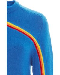 Carven - Blue Rainbow Knitted Sweater - Lyst