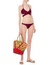 Suboo - Purple Wrap Bikini Top - Lyst