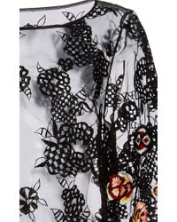 SUNO - Black Short Splatter Print Silk Dress - Lyst
