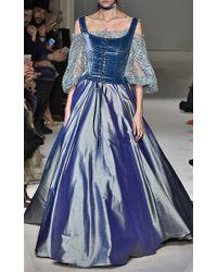 Luisa Beccaria - Blue Taffeta Full Skirt - Lyst
