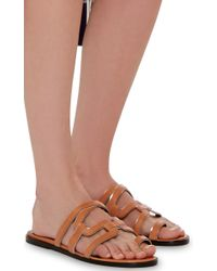 Pierre Hardy - Multicolor Calf And Patent Leather Kaliste Slip On Sandals - Lyst
