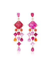 Anabela Chan - Pink M'o Exclusive Ruby Escher Drop Earrings - Lyst