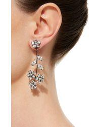 Jennifer Behr - Metallic Violet Gunmetal-plated Swarovski Crystal Earrings - Lyst